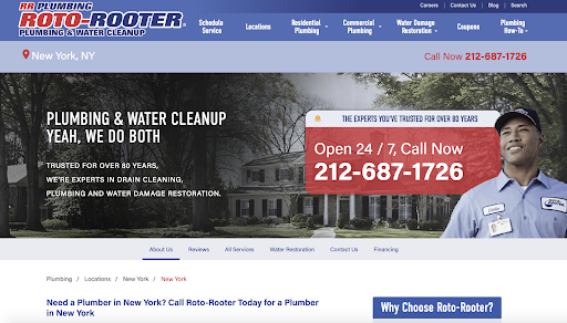 Roto-Rooter Site Location Page