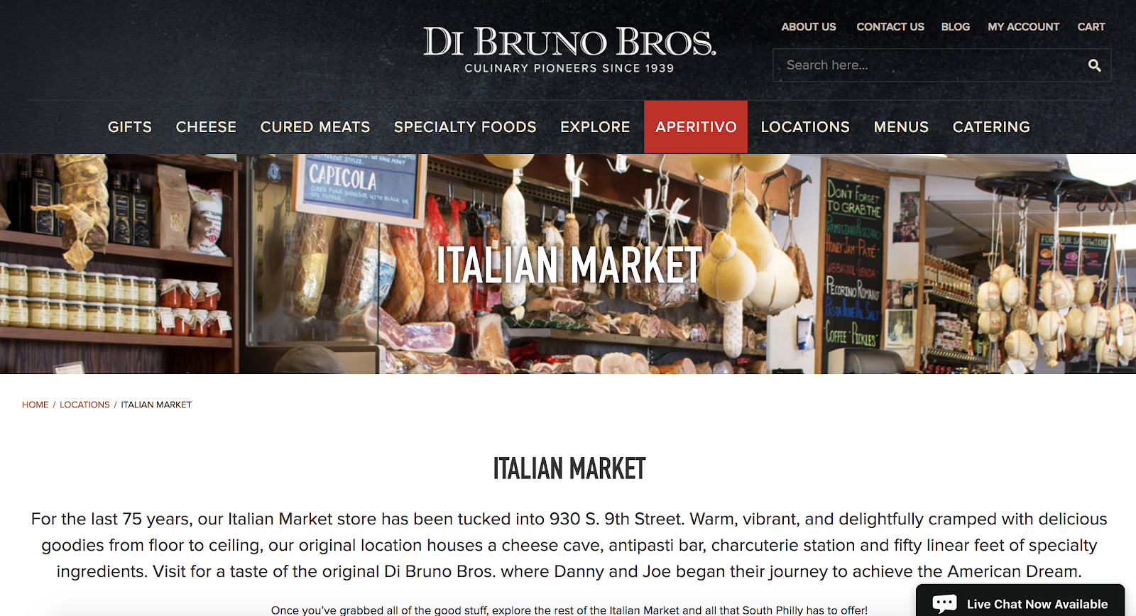 Di Bruno Bros. Location Page