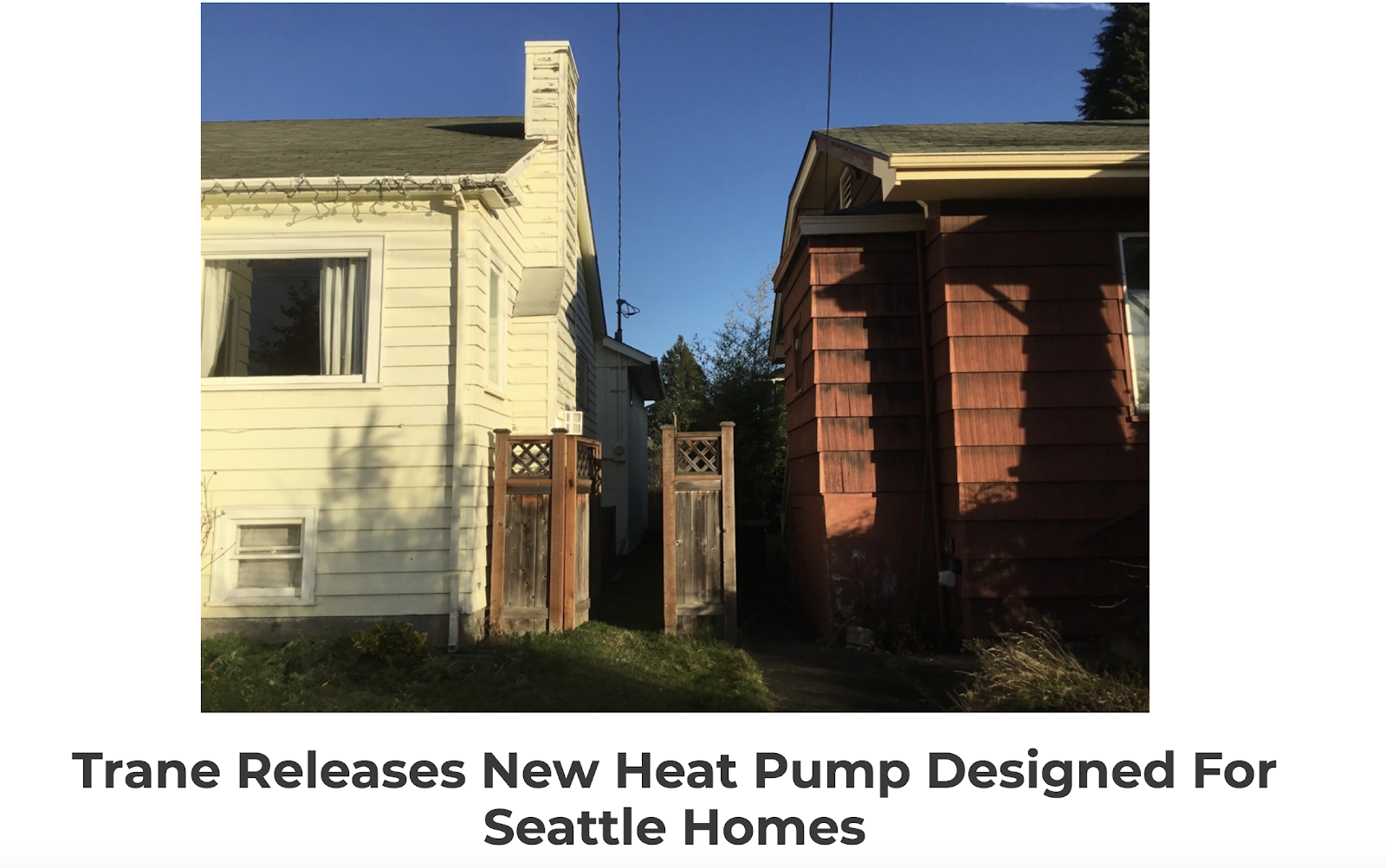 Evergreen Home Heating and Energy Product Announcement