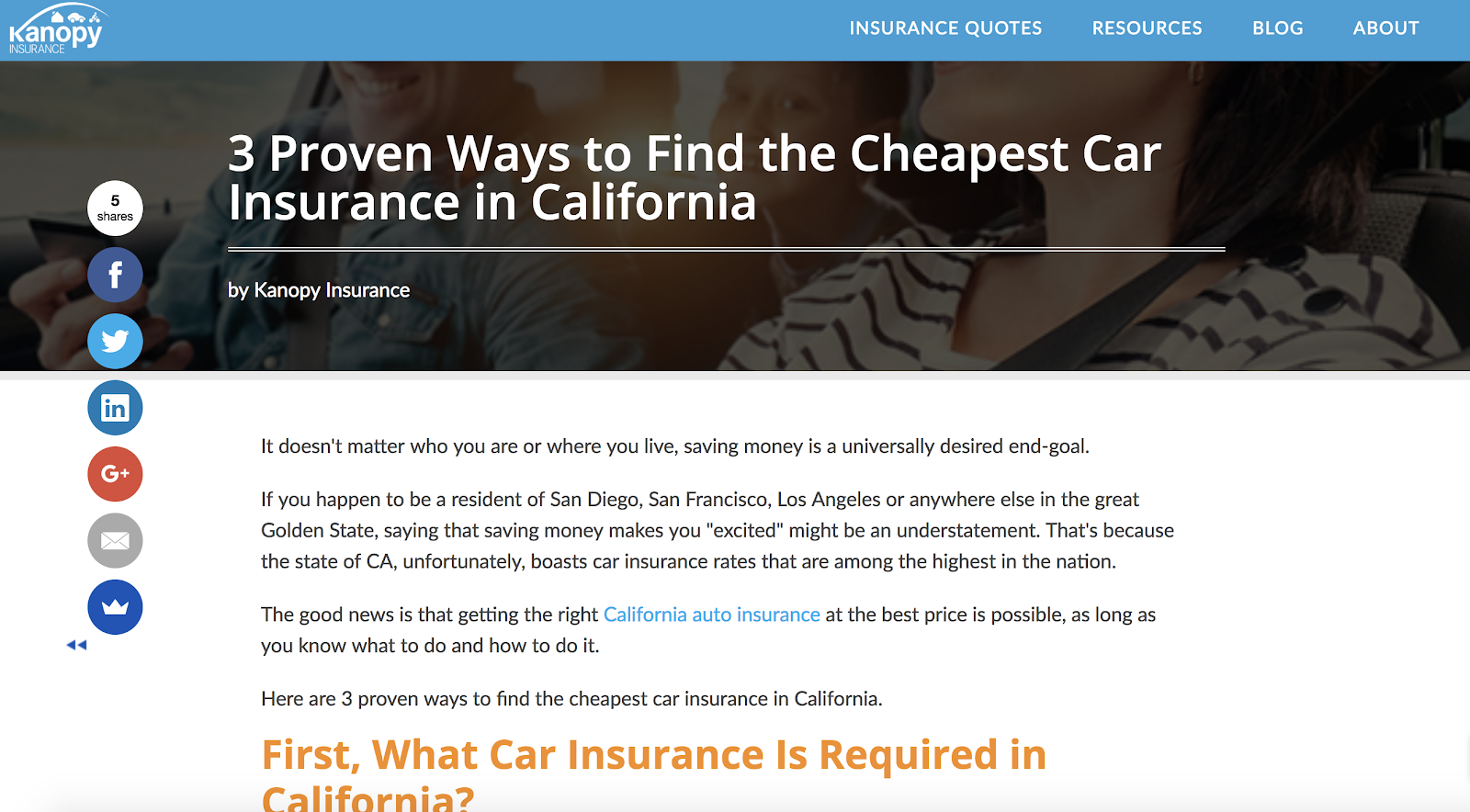Kanopy Insurance Pricing