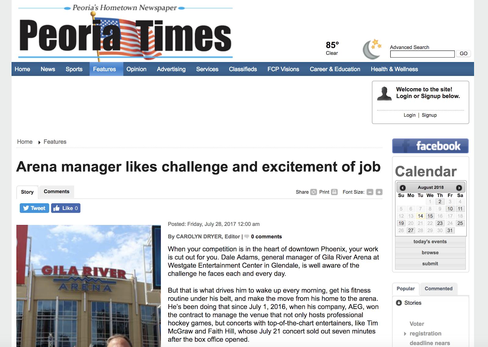 Gila River Arena Press Release